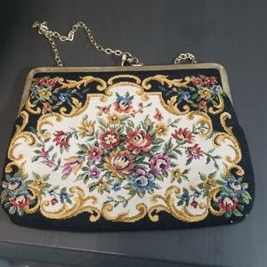 Vintage floral fabric coin purse by Walbaeg